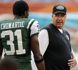 Antonio Cromartie and Rex Ryan