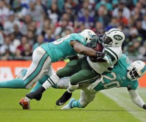 Jets Fly in London, Win 27-14 Over Dolphins