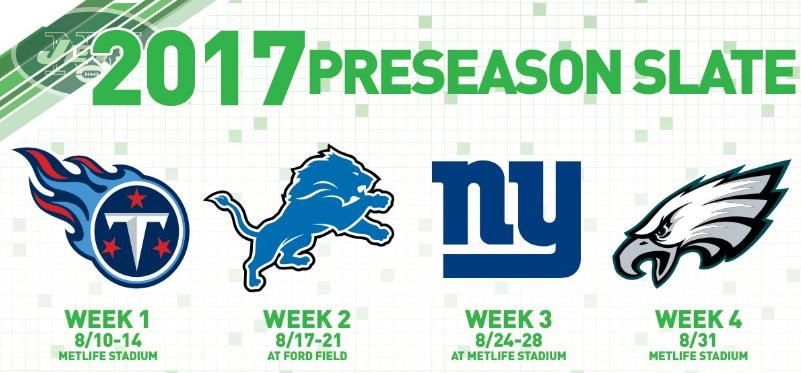 Jets Preseason Schedule
