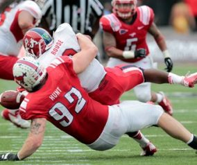 Rex Ryan Works Out DE Margus Hunt At SMU Pro-Day