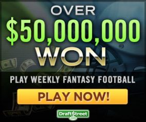 $1,000 NFL Contest On DraftStreet
