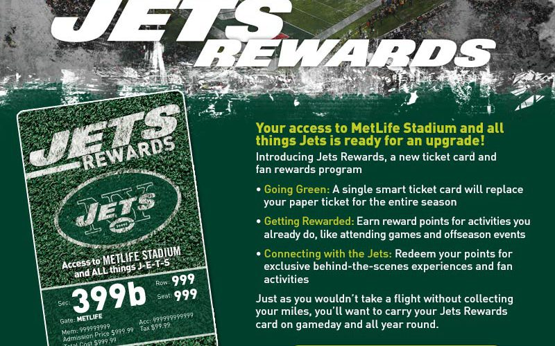 Jets Announce Reward Program