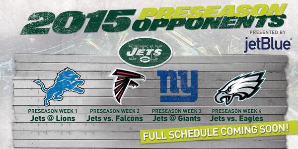 Jets Release Preseason Schedule
