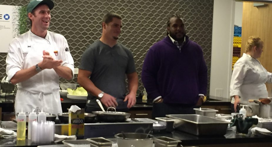The New York Jets Cook With The Institute of Culinary Education