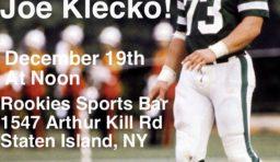 Meet & Greet with Joe Klecko: Sat 12/19