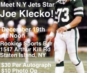 Meet & Greet with Joe Klecko: Sat 12/19