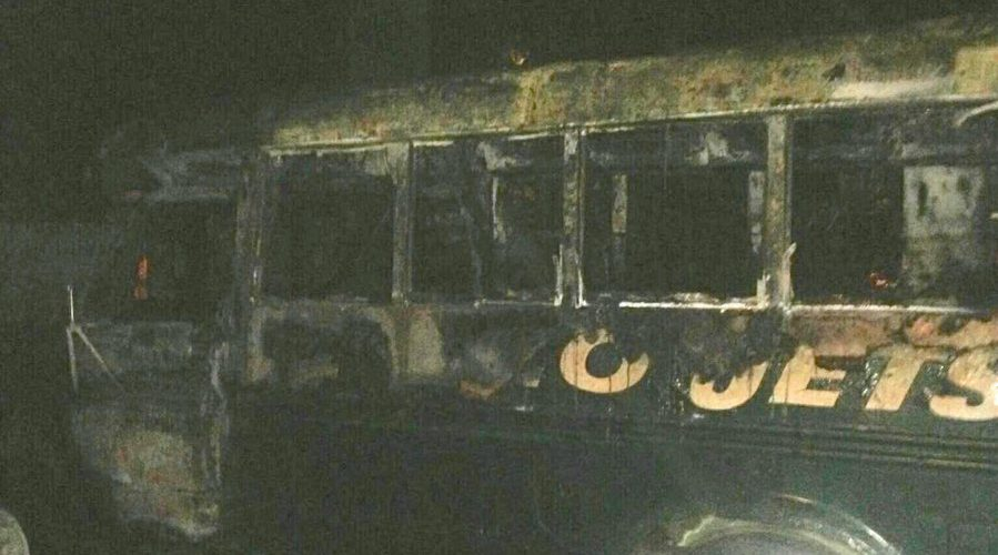Jets Tailgate Bus Catches On Fire