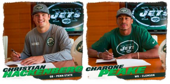 Jets Sign 2 More Draft Picks; Hackenberg, Peake