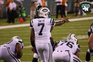 Despite struggling under center, Geno Smith remains positive heading in to next weeks game against the Giants.