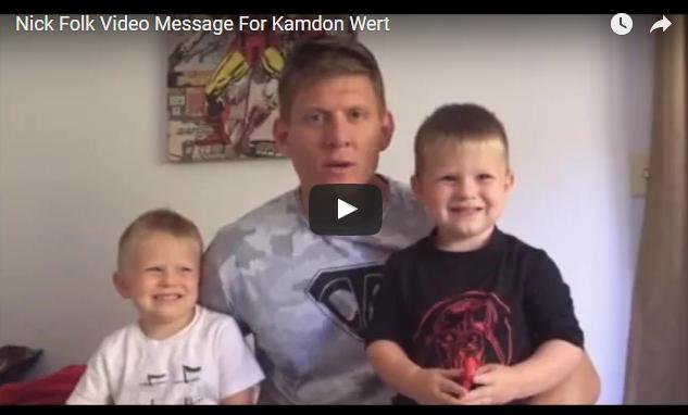 Nick Folk Video Message