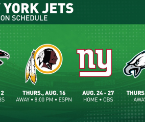 NY Jets Announce Preseason Schedule