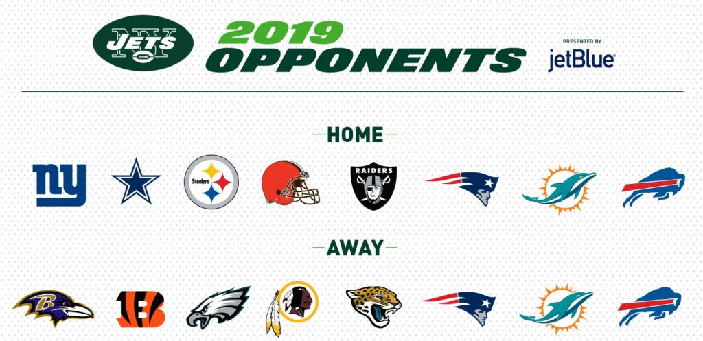 2019 NY Jets Opponents