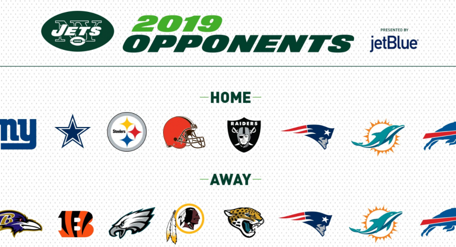2019 NY Jets Opponents Announced