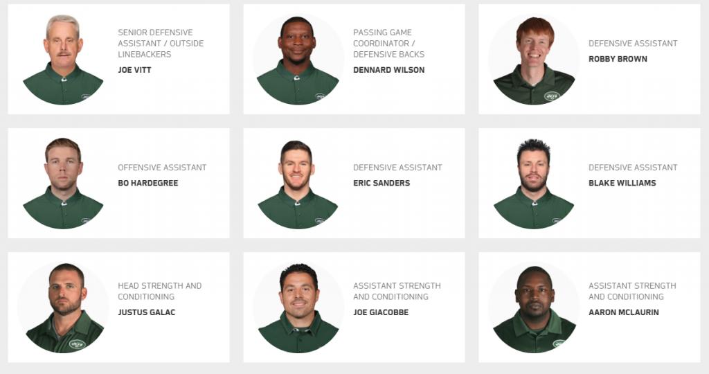 NY Jets Assistant Coaches