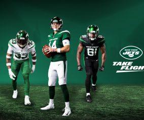 Jets Unveil New Uniforms; Draft Talk