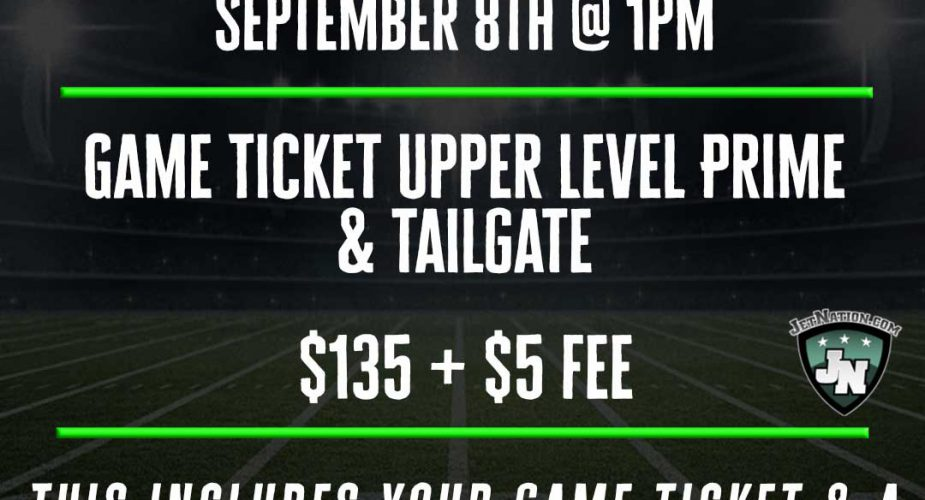 Jets \ Bills: JetNation Group Outing (Ticket & Tailgate)