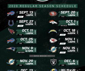 2020 NY Jets Season Schedule