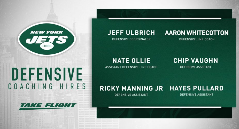 Jets Give Some Coaching Updates (Defensive)