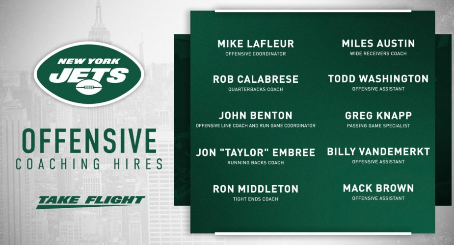 Jets Formally Announce Offensive Staff