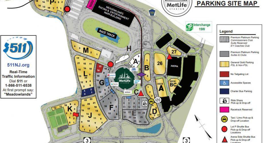 MetLife Stadium Parking Changes