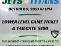 JetNation Group Outing – 10/3 Jets vs Titans