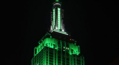 Empire State Building Lights Up for NY Jets Home Opener